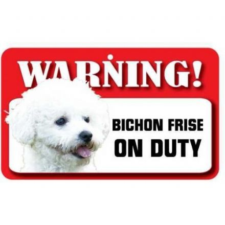 Bichon Frise Dog Pet Sign